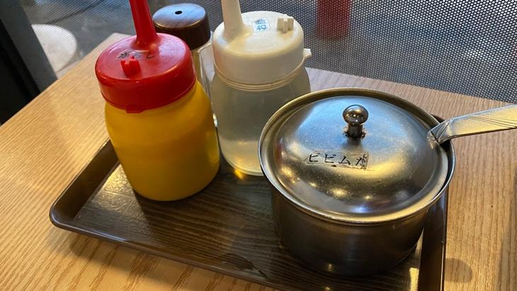 コサム冷麺専門店 調味料