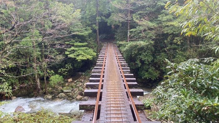 屋久島 トロッコ道 橋