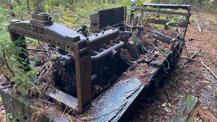 屋久島 トロッコのエンジン